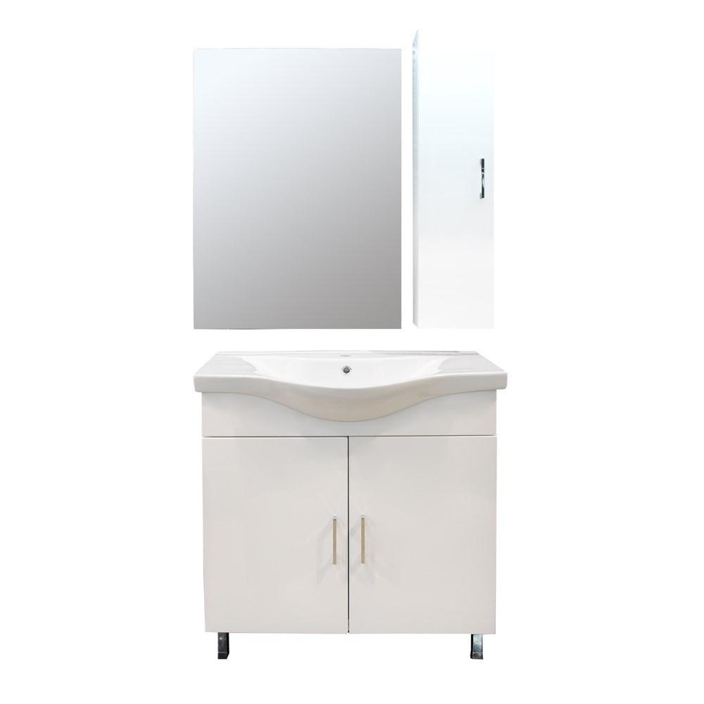 Mobilje tualeti ALBA 80 DROP melamine e bardhe 224357 1