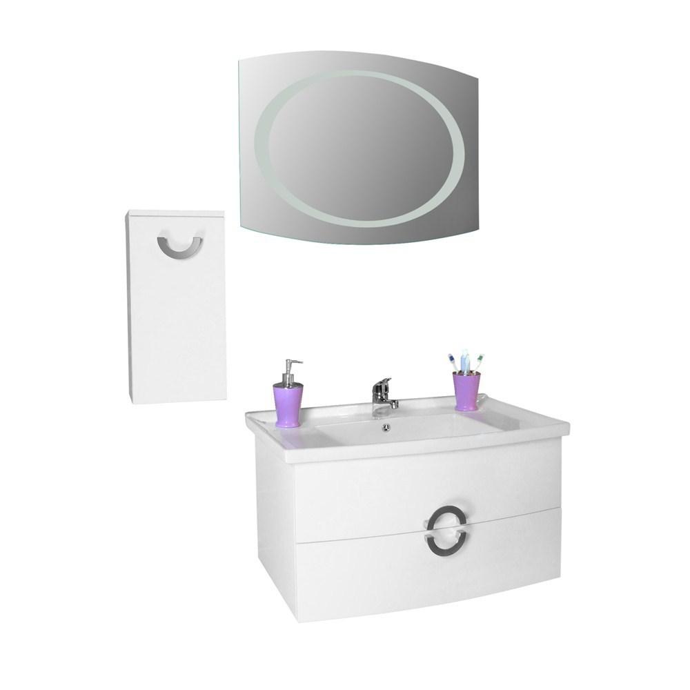 Mobilje tualeti Artemis PVC e bardhe 23604 2