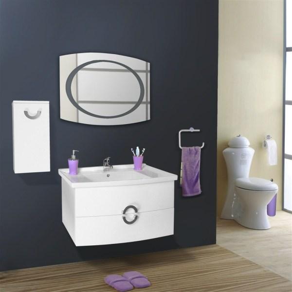 Mobilje tualeti Artemis PVC e bardhe 23604 3