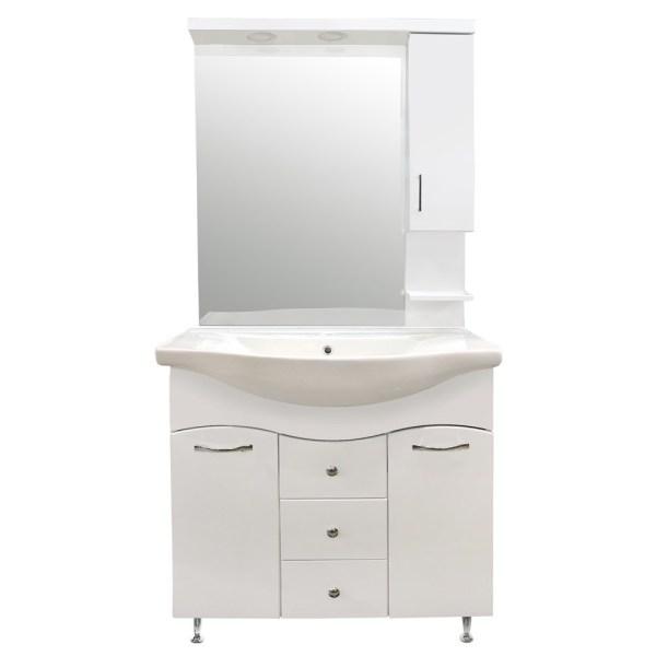 Mobilje tualeti KORAL 85 MDF e bardhe 224489 2