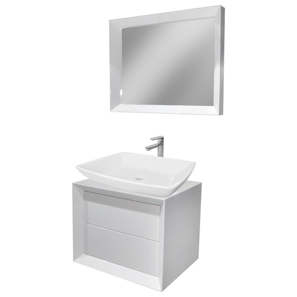 Mobilje tualeti MDF E bardhe 221428 1