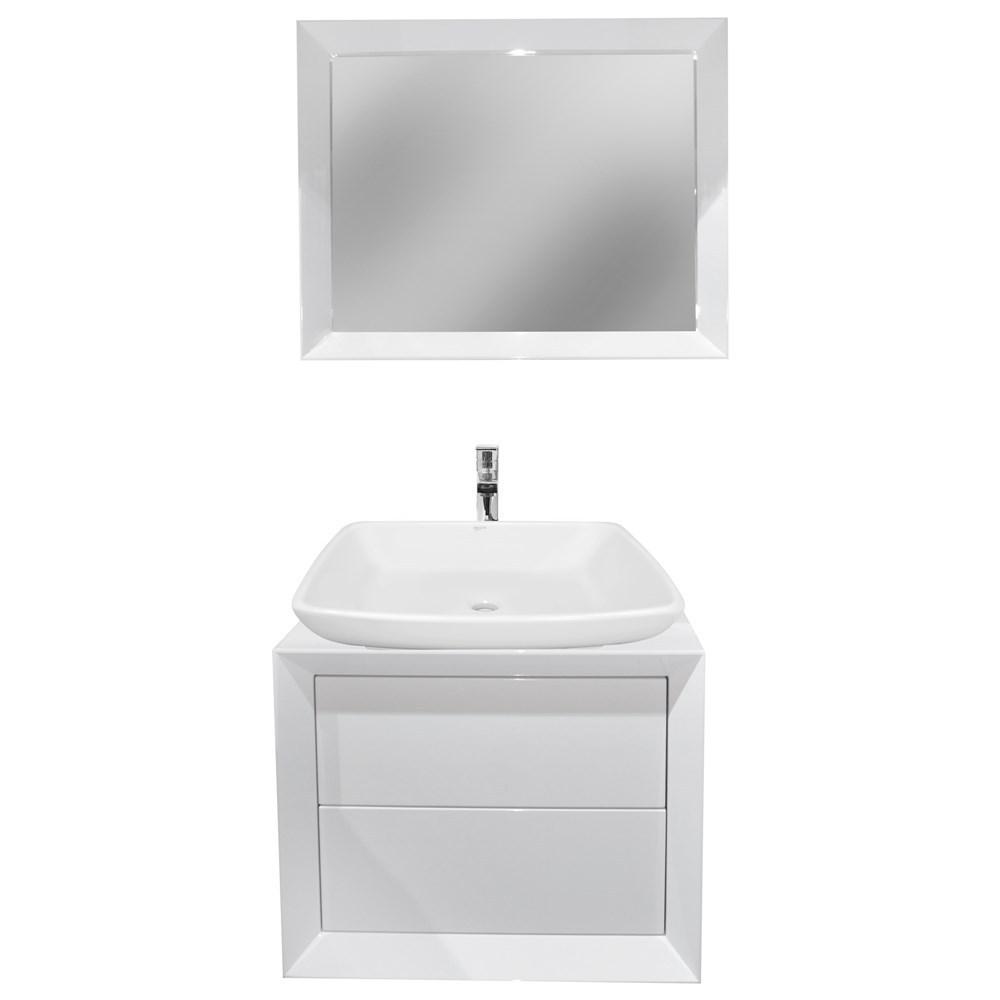 Mobilje tualeti MDF E bardhe 221428 2