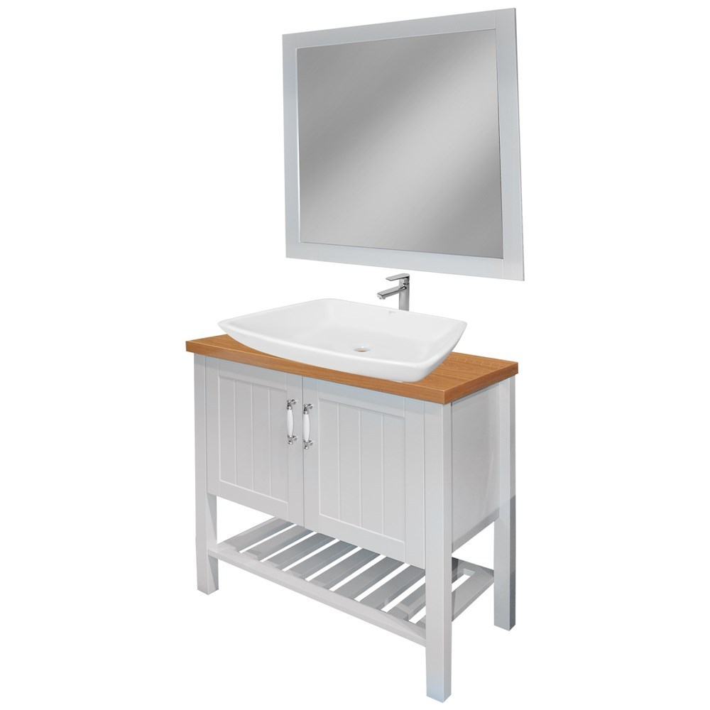 Mobilje tualeti MDF E bardhe 221432 1