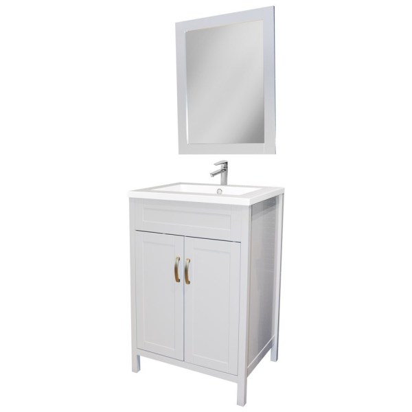 Mobilje tualeti MDF dhe ABS E bardhe 221431 1
