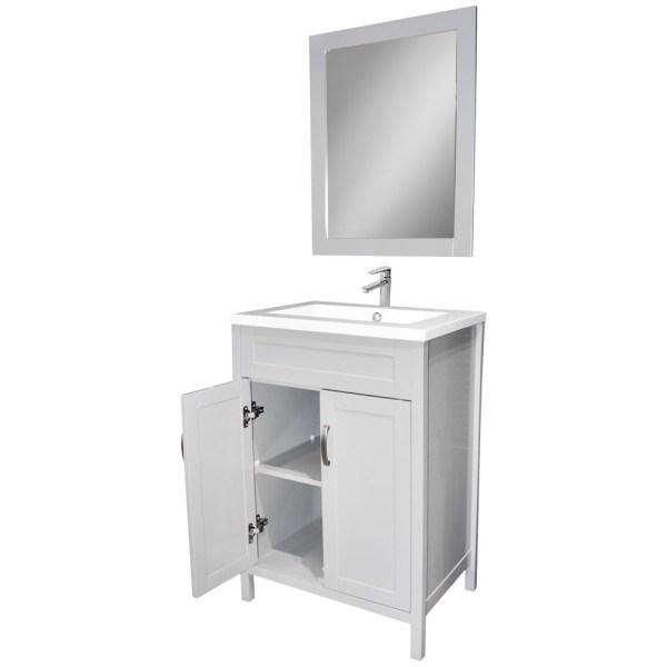 Mobilje tualeti MDF dhe ABS E bardhe 221431 3