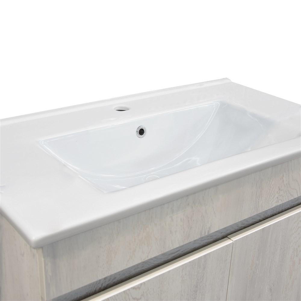 Mobilje tualeti OMEGA 80 Melamine e bardhe 224492 1