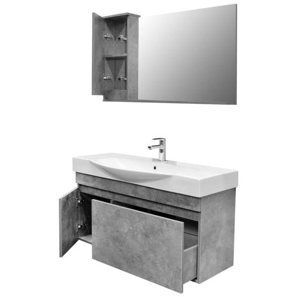 Mobilje tualeti SENSO 105 DROP melamine gri 222176 2
