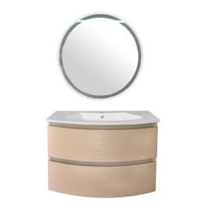 Mobilje tualeti panel druri bezhe mat 84.5x53xH58 cm 223625 1