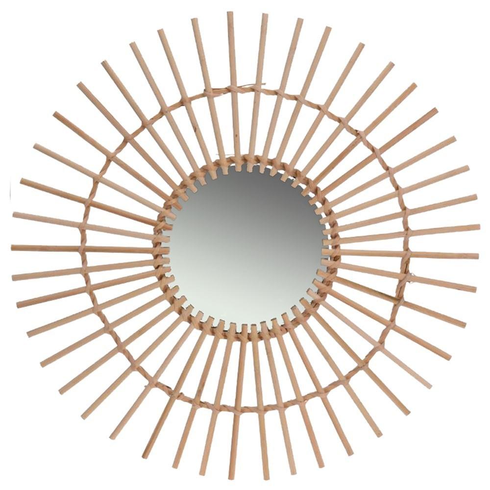 Pasqyre qelq dhe mdf natyrale O50 cm 223657