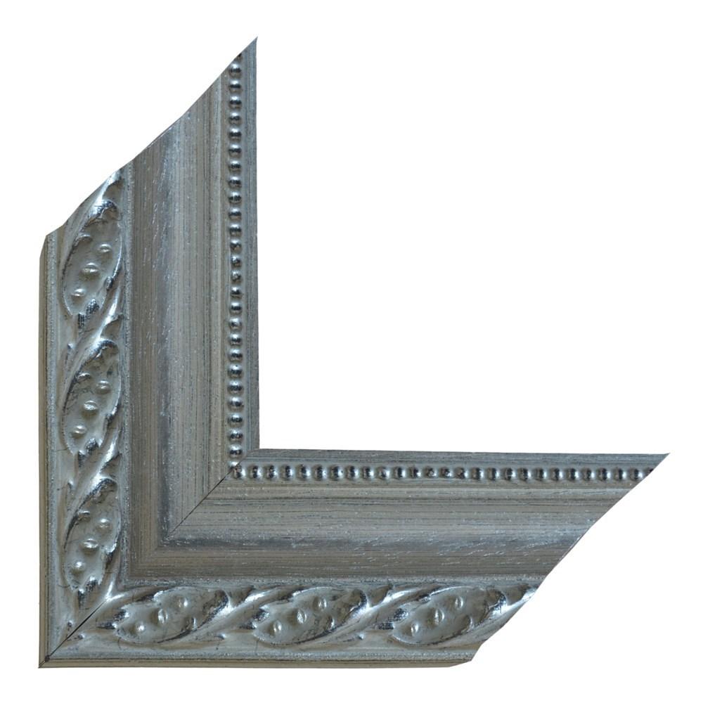 Shufra druri decor N 0402 ngjyre argjendi 6x3 cm 3 ml 250014