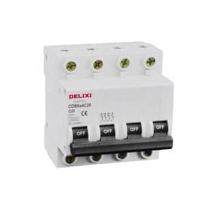 mini circuit breaker 3ka 4p 20a