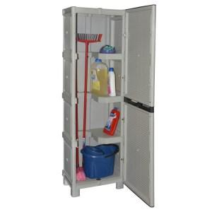 plastic brooms holder cabinet