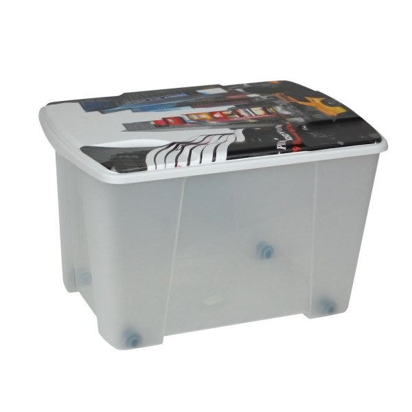 storage box new york plastic clear 56x39xh35 cm
