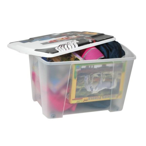 storage box new york plastic clear 56x39xh35 cm 1