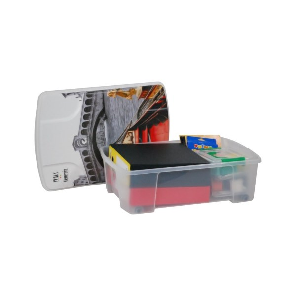 storage box venice polypropylene clear 565x39xh18 cm 1
