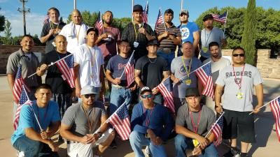 New Mexico Men's recovery Academy residents at Los Lunes outing on 4th of July, 2018