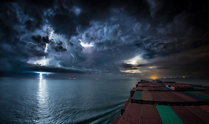 Incredible 30-Day Journey Of A Cargo Ship In A Timelapse