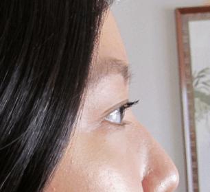 With mascara