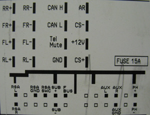 Opel CDC40 Opera Head Unit pinout diagram @ pinoutguide