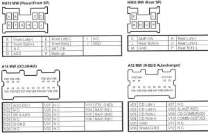 Nissan PN2665DA Head Unit pinout diagram @ pinoutguide