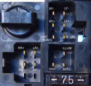 Nissan Clarion PN9524U Head Unit pinout diagram @ pinoutguide