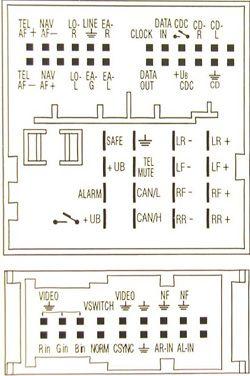 Volkswagen Radio navigation 7L6 035 191N Head Unit pinout diagram @ pinoutguide