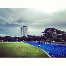 14) Ateneo Track Oval. Blue oval just completed. 8 lanes. 40om track. Track Ovals in the Philippines