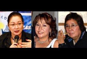 Former Sen. Nikki Coseteng, Atty. Ma. Luz Mendoza and Susan Papa