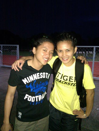1-2 Rosales and Eloiza Luzon after the 2013 UAAP at Dasmarinas.