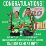 Master Endurance is now the Milo Marathon Champion, Tabby Defends her title