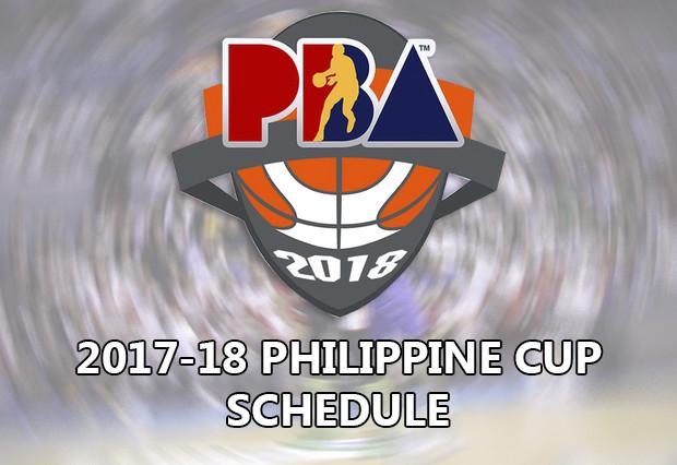 2017-18 PBA Philippine Cup Game Schedule - (Elimination Round)