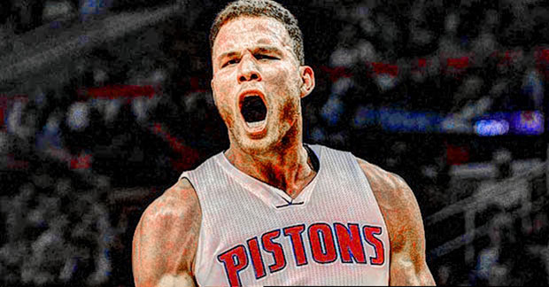 Blake Griffin First Game As A Detroit Pistons