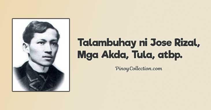 Talambuhay ni Jose Rizal, Mga Akda, Tula, atbp.