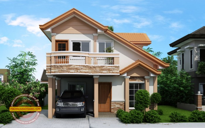 Two Story Contemporary House front view