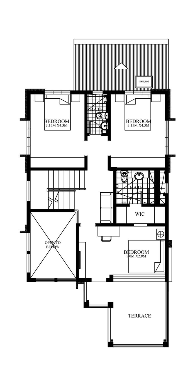 Contemporary House Design-2015020-second-floor-plan