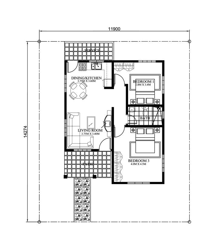 small house design-2015021-floor-plan