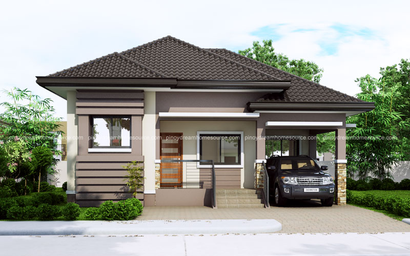 One Story Small Home Plan With One Car Garage
