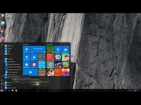 Always Run A Program (Visual Studio 2015) As An Administrator on Windows 10