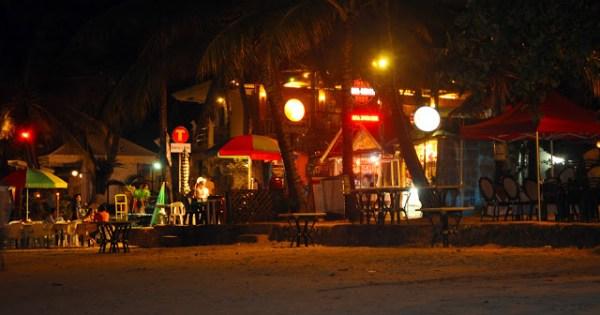 alona beach at night