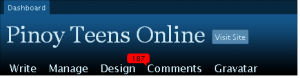 Pinoy Teens Online Dashboard