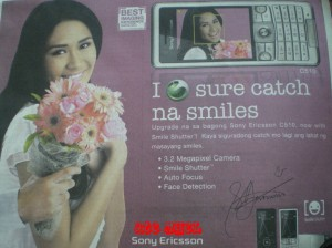 Sarah Geronimo promoting Sony Ericsson