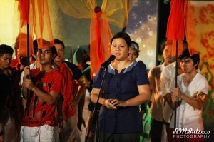 Mayor Inday Sara Duterte opening Pasko Fiesta