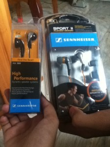 Sennheiser Earphones bought from DiscountedDeals.Multiply.Com