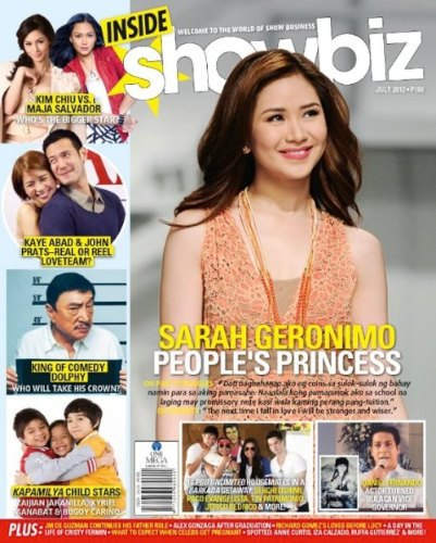 Inside Showbiz Sarah Geronimo July 2012 Cover