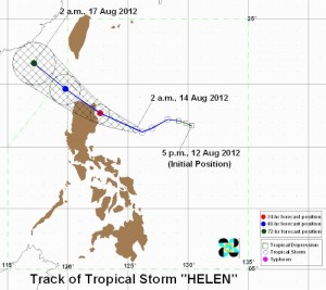 PAGASA: Track of Tropical Storm Helen