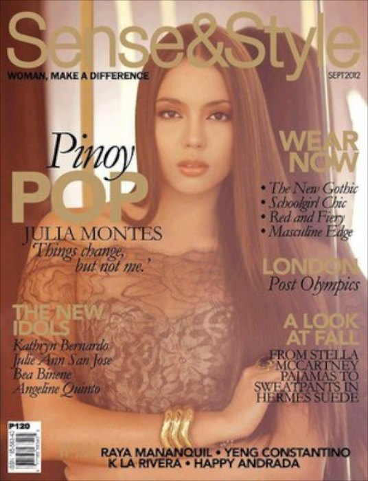 Julia Montes is Sense and Style September 2012 cover