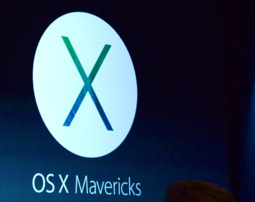 Apple introduces OS X Mavericks at WWDC 13.