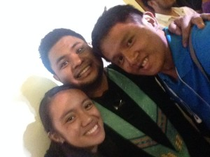 Alyssa Ancla, Davey Langit, Kevin Paquet (L to R)