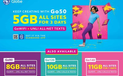 Go for more with Globe Prepaid's newest and biggest Go Promos