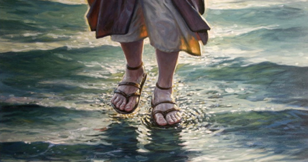 Image result for peter walks on water